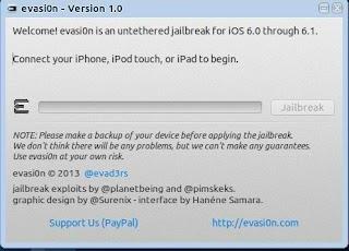 Evasion - Jailbreak iOS 6 no Ubuntu