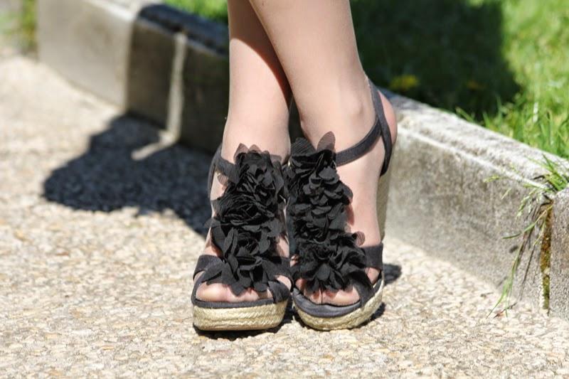 sandalias negras de H&M