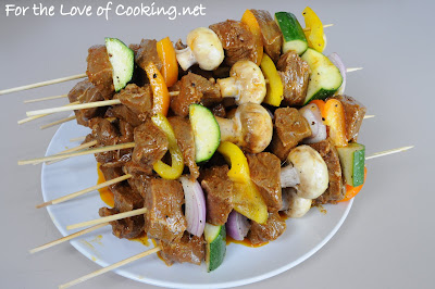 Spicy Steak Kebabs