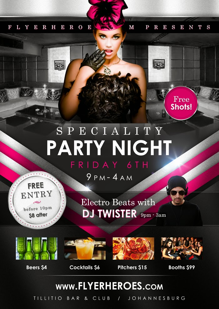 Free Club Flyer Template Leoncapers