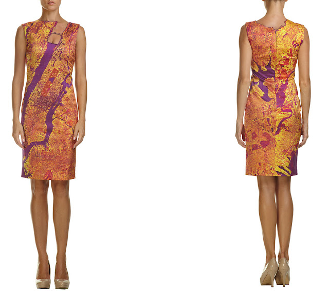 New York & New Jersey Satellite Imagery Dress