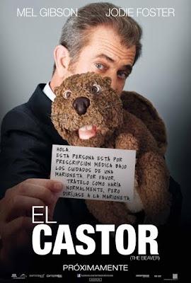 Cartel de la película, de la directora Jodie Foster, El castor