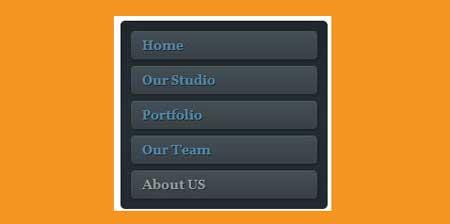 Стильное тёмное вертикальное меню для блога