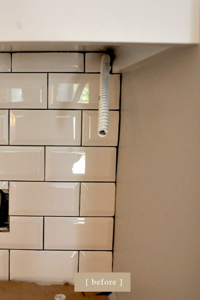 craftsman bungalow renovation, beveled subway tiles, Pewter grout