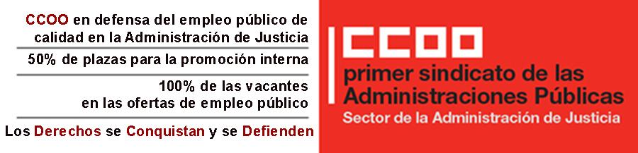 CCOO JUSTICIA en defensa del Empleo Público