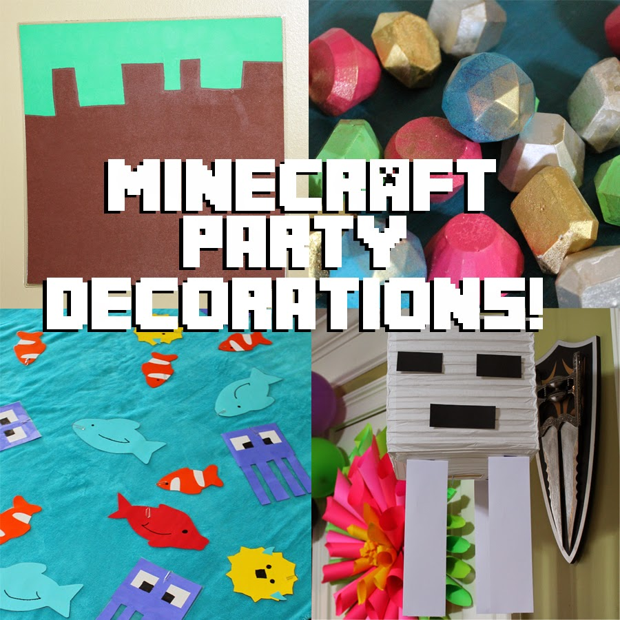 Minecraft Party Decorations Doodlecraft Minecraft Crafts And Decorations