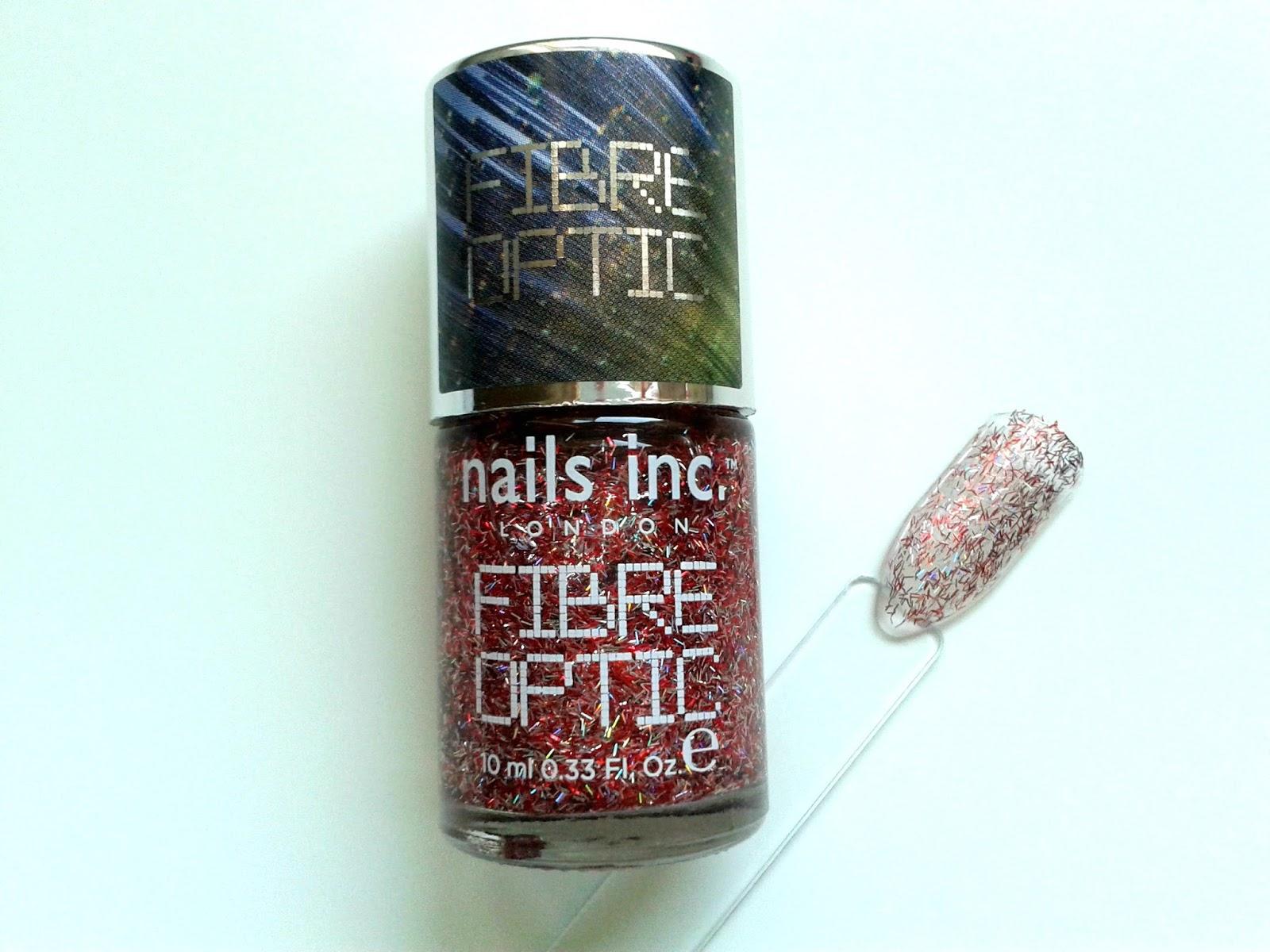 Nails Inc Nail Polish Diary: October Beauty Review Belgravia Place Fibre Optic Polish