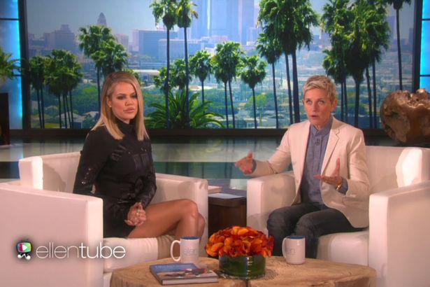 khloe kardashian on elle degeneres show