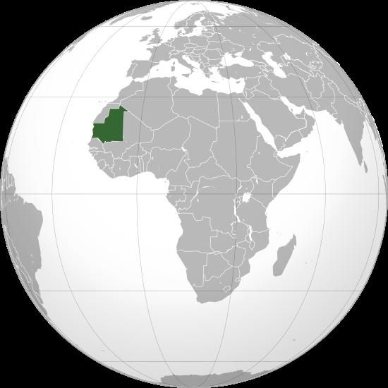 Globo Terráqueo Mauritania
