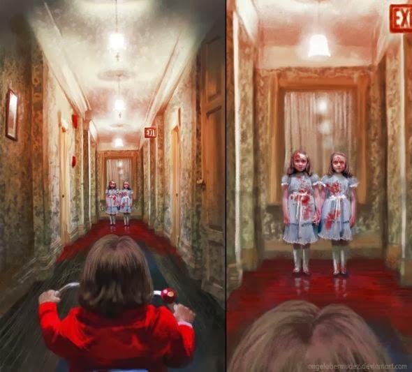 Angela Bermudez deviantart pinturas filmes cultura pop cinema O Iluminado (The Shinning)