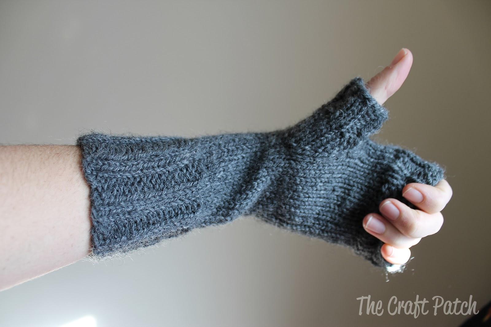 Knitting Gloves For Beginners Fingerless : The craft patch knitted fingerless gloves