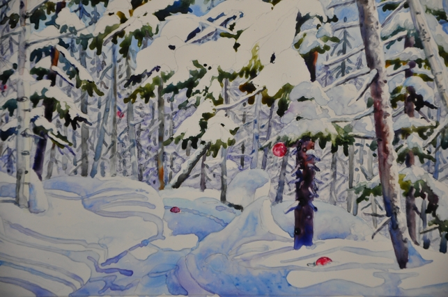 Watercolor reflections november 2011 Christmas card scenes to paint