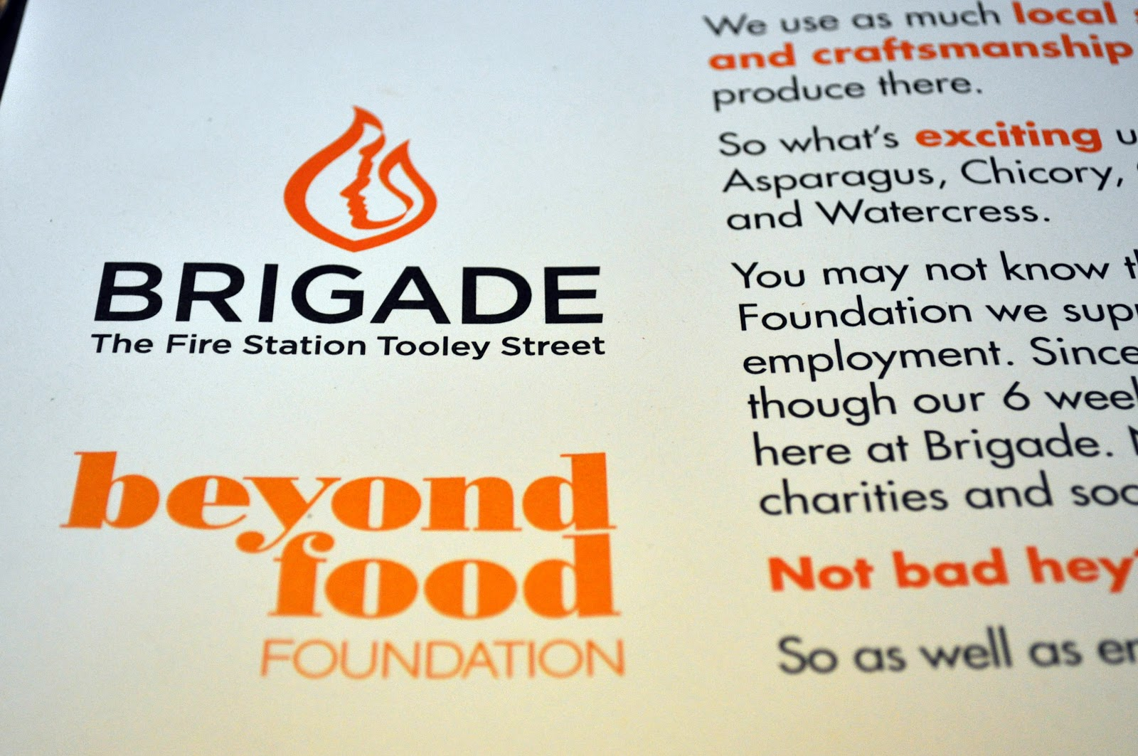 Brigade and Beyond Food, London Tooley Street