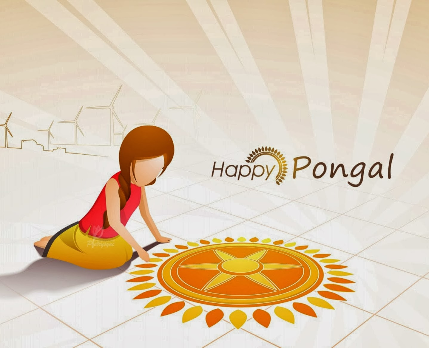 Happy Pongal Day Greeting Cards Happiness Style