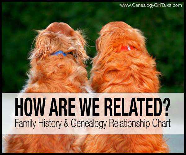 How are we related? Family History & Genealogy Relationship Chart by Genealogy Girl Talks