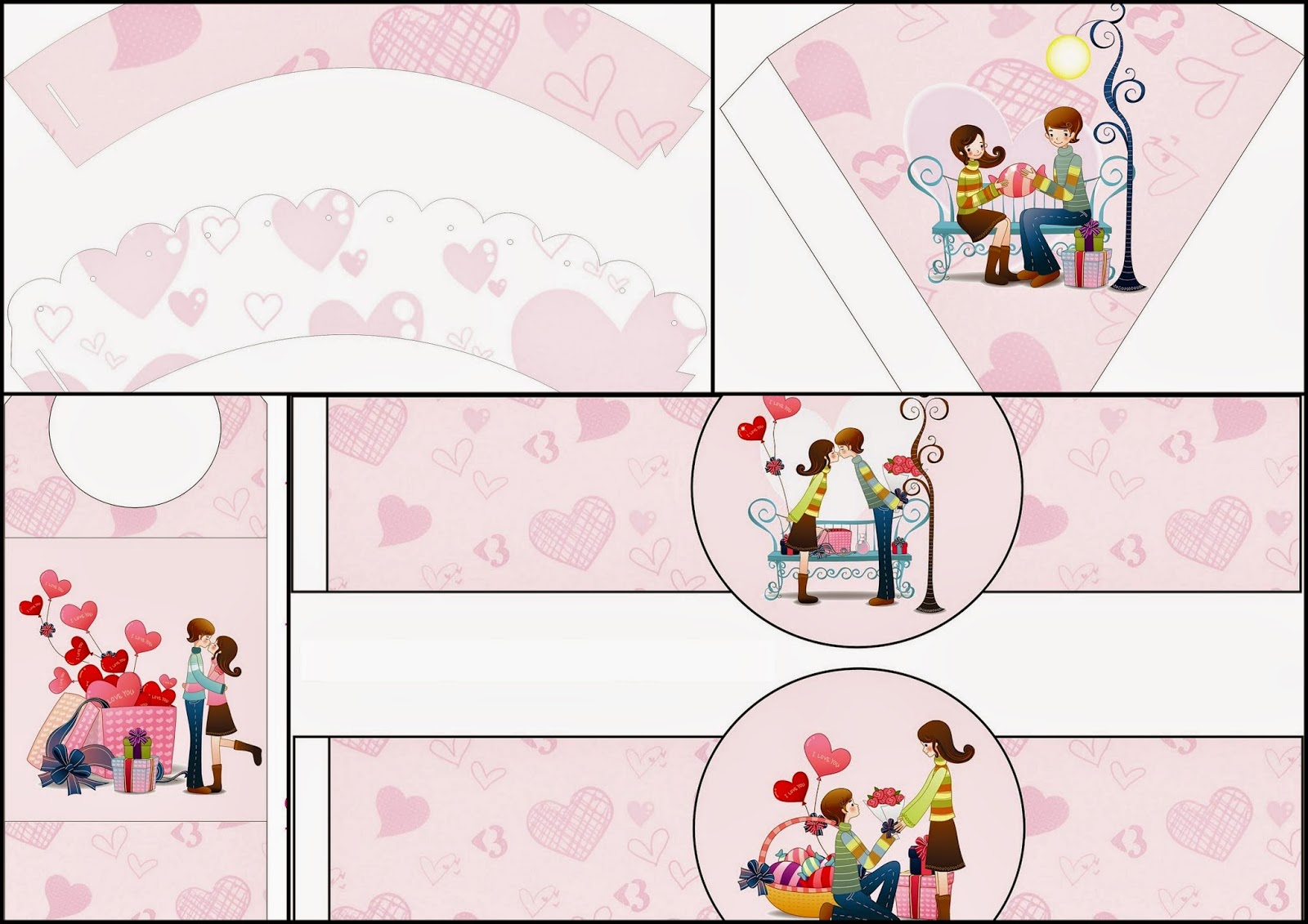 Valentine´s Couple: Free Party Printables.