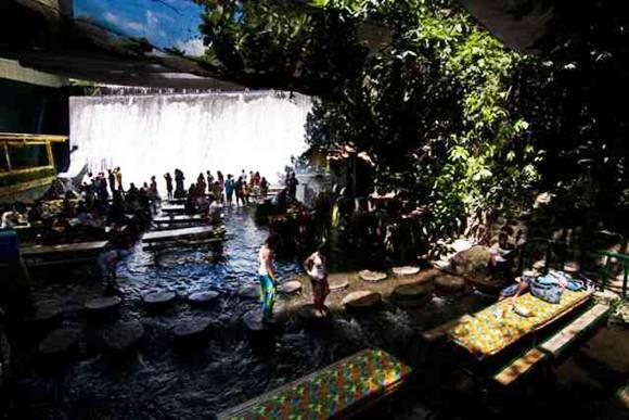 Amazing Waterfall Restaurant In Philippines