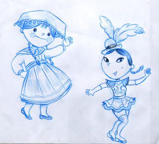 Boceto diseño de mascota