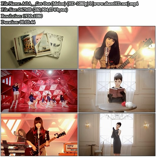 Download MV AOA - Get Out (Melon Full HD 1080p)
