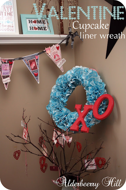 Cupcake Wreath...Valentine Edition!!