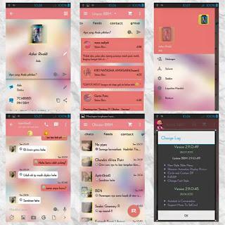 BBM Mod Love Story apk 2.9.0.49 Pink Theme