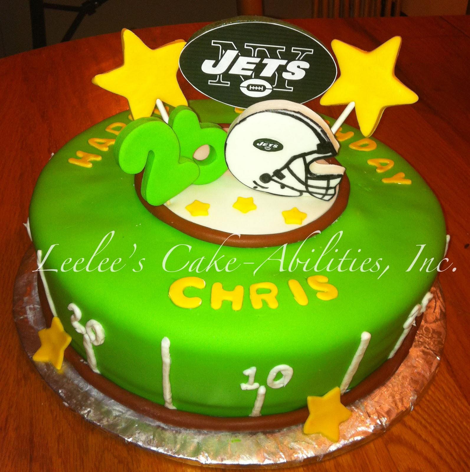 Leelees Cake Abilities Ny Jets Cake