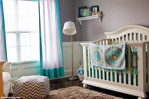 Une adorable Déco bébé gris et bleu