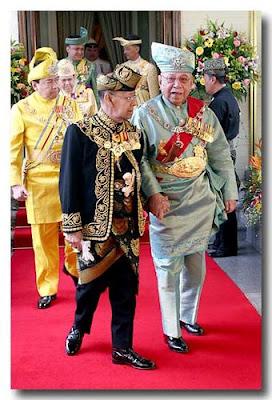 Susunan Kekananan Yang Di pertuan Agong raja raja dan Yang Dipertua Negeri