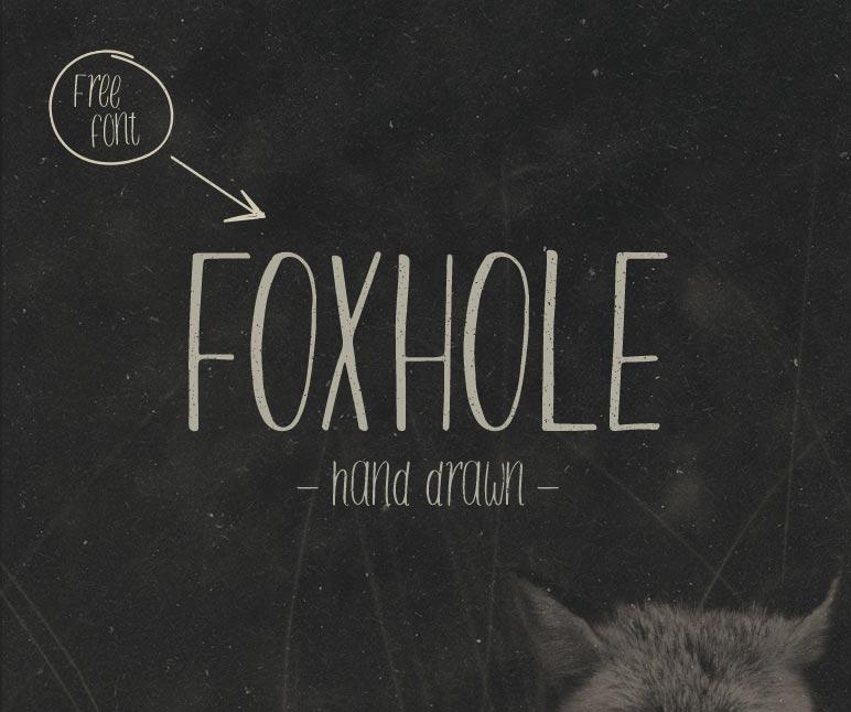 Brush font terbaik 2017 - FOXHOLE – Free Brush Font