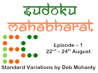 Sudoku Mahabharat Episode-1 Standard Variations (22 - 24 Aug, 2015)