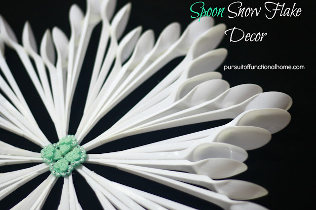 Plastic Spoon Snow Flake and Bowl
