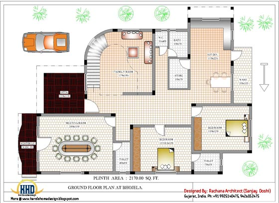 Ground floor house plan - 4200 Sq.Ft.