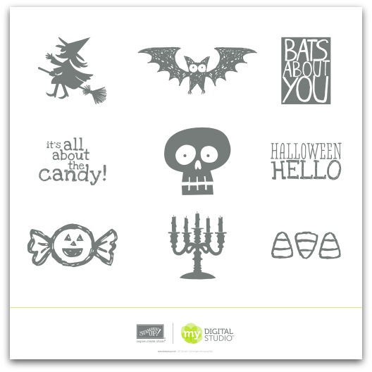 Stampin' Up! Halloween Hello Stamp Brush Set Digital Download