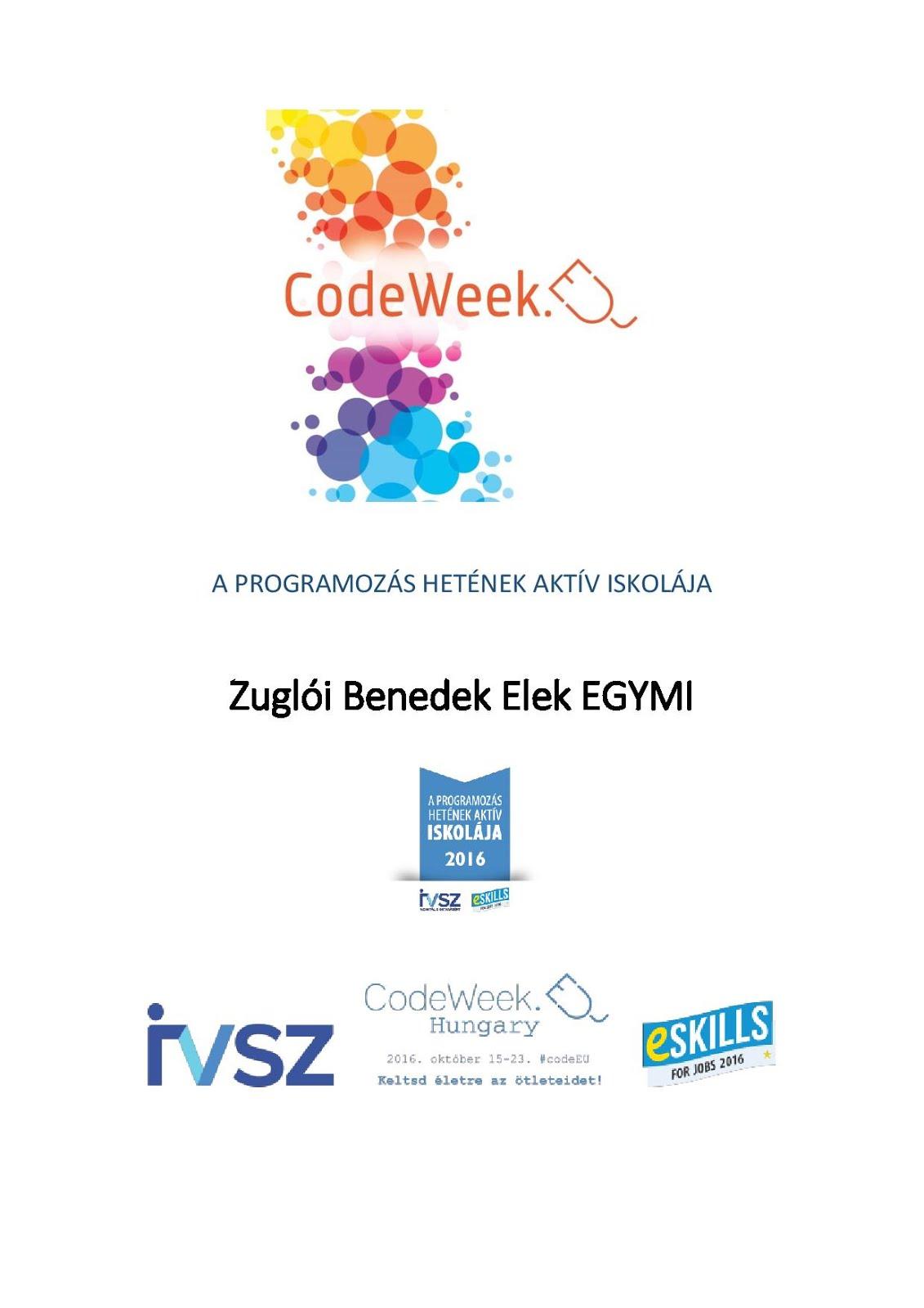Európai Kódolás Hete 2016.