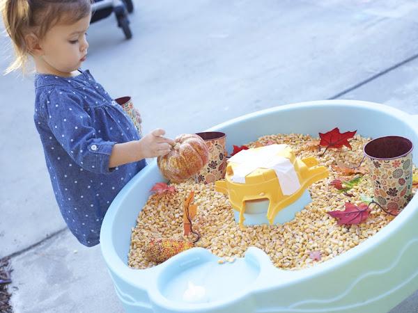 DIY Toddler Fall Sensory Table