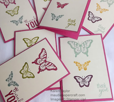 Stampin' Up! Papillon Potpourri cards