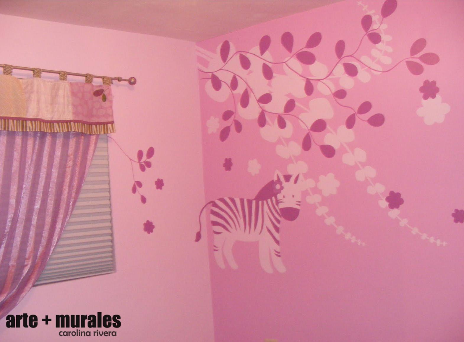 Arte murales habitaciones infantiles for Murales infantiles nina