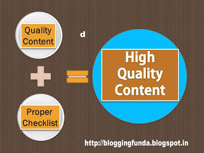Quality Content: Achecklist by Blogging Funda