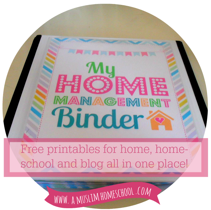 free home management binder printable pages
