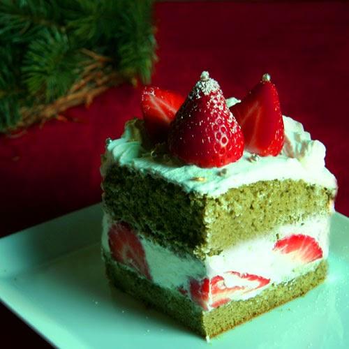 xmas matcha cake