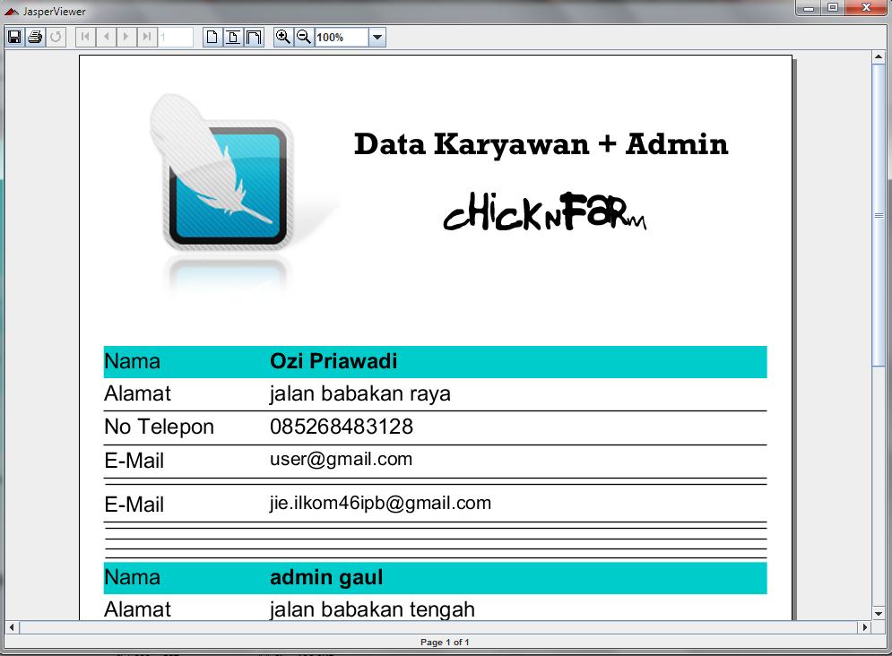 ... Bagas: Contoh Aplikasi Desktop dengan JAVA (Aplikasi Peternakan Ayam