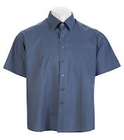 Ampliar imagen : Camisa Gris Uniforme básico Manga corta de caballero