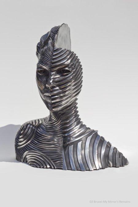 gil bruvel escultura aço metal fluxo de energia