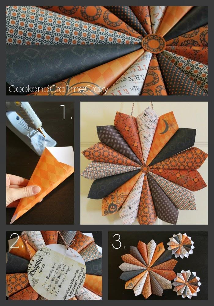 http://cookandcraftmecrazy.blogspot.com/2014/09/halloween-paper-wreath.html