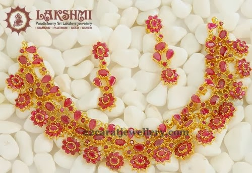 Srilakshmi Jewels Latest Ruby Choker