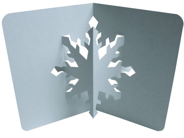 Ez3d pop ups christmas place cards and free snowflake for 3d pop up card templates free