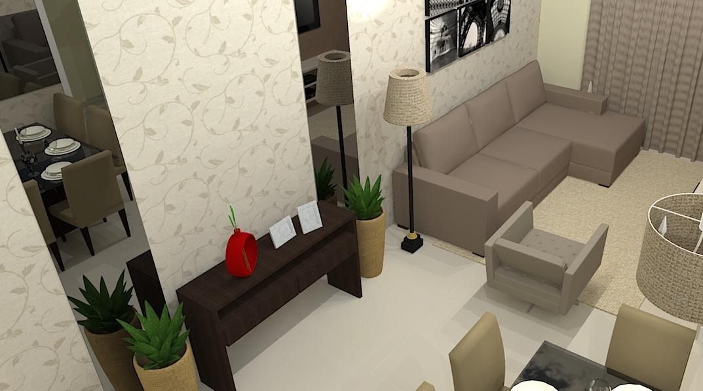 Sala estar jantar e cozinha integrada la arquitetura for Sala de estar sala de jantar