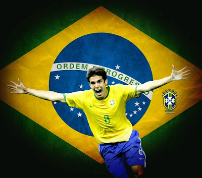 Kaka with a Brazil jersey