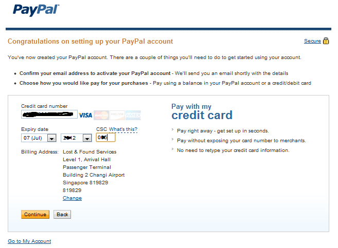 Paypal change credit card expiry date