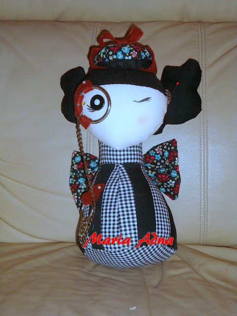 textile and metal doll, textile doll, decoration doll